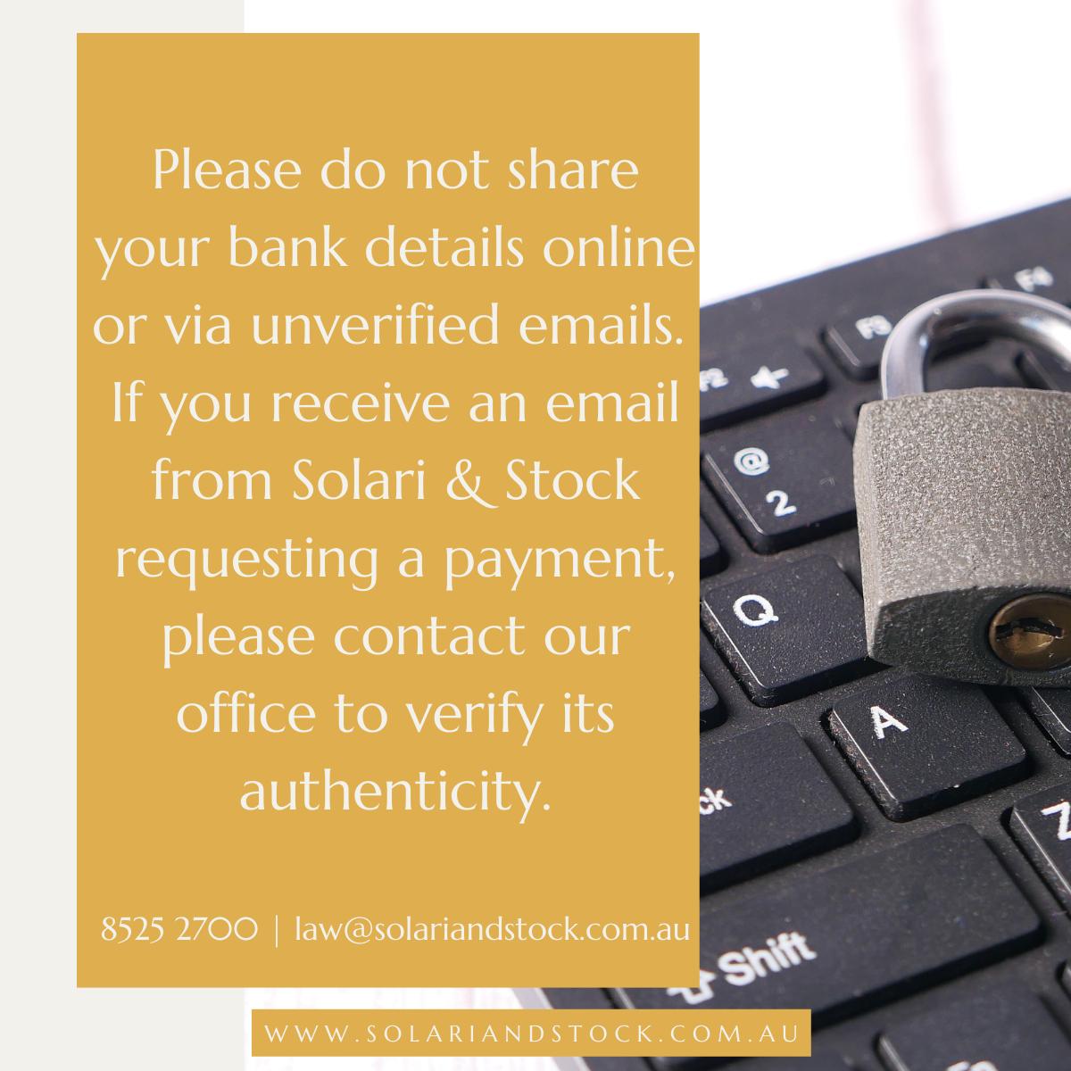 Solari and Stock security notice