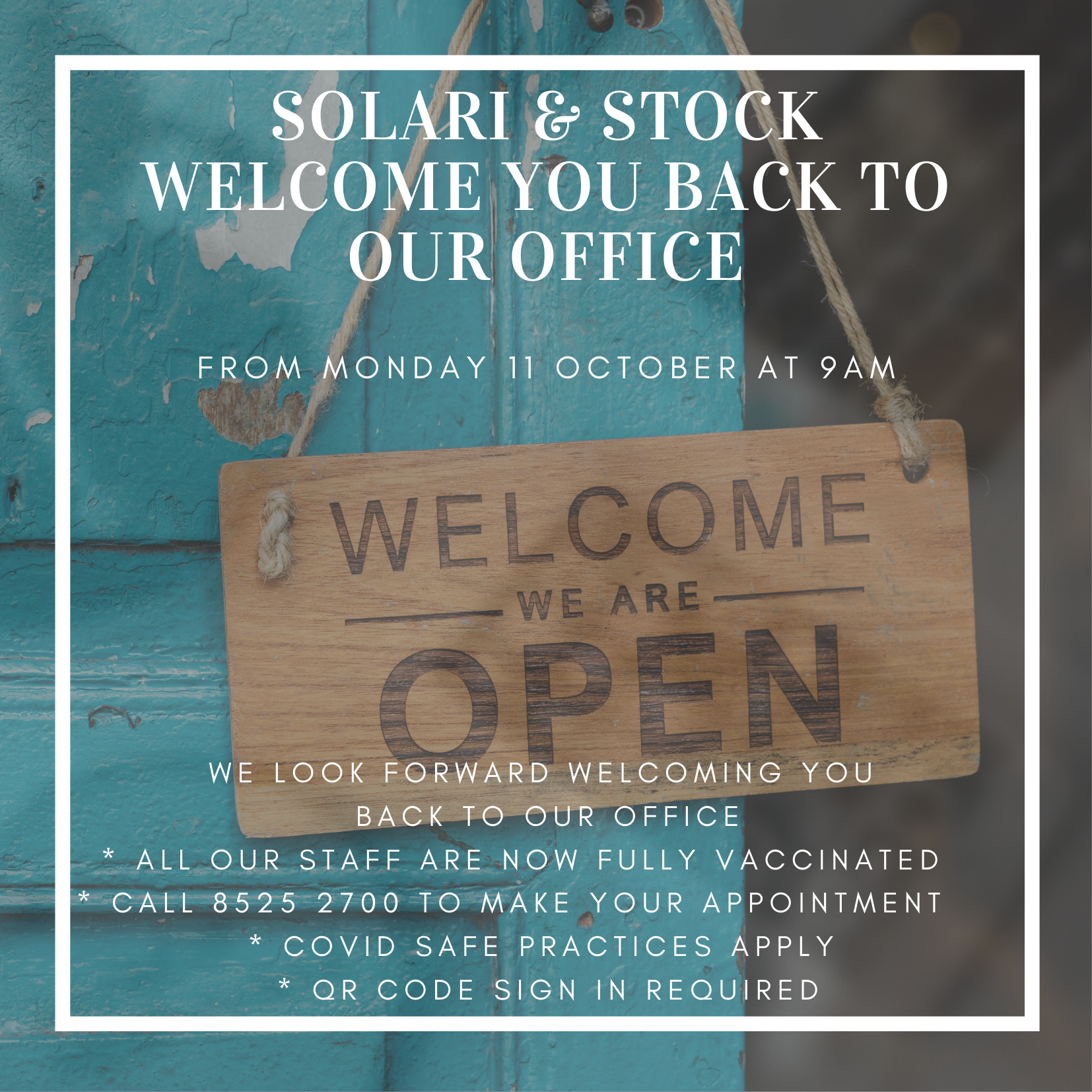 Solari and Stock reopening